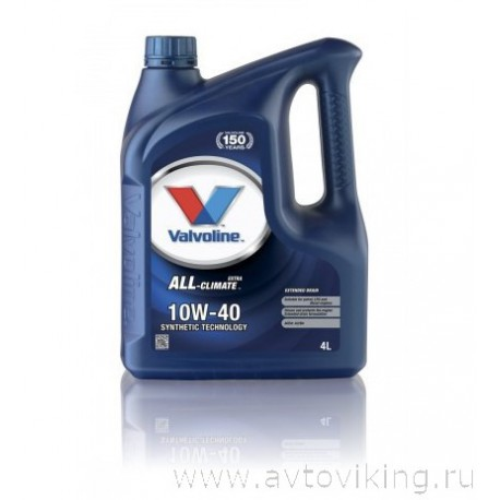 Масло моторное VALVOLINE ALL-CLIMATE EXTRA 10W-40 4L