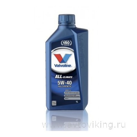 Масло моторное VALVOLINE ALL-CLIMATE 5W-40 DIESEL C3 1L